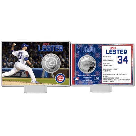 Jon Lester Chicago Cubs Highland Mint Mint Player Silver Collector Coin Card - No Size