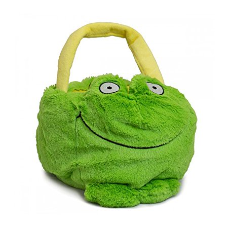 - Beverly Hills Teddy Bear Company Plush Frog Basket