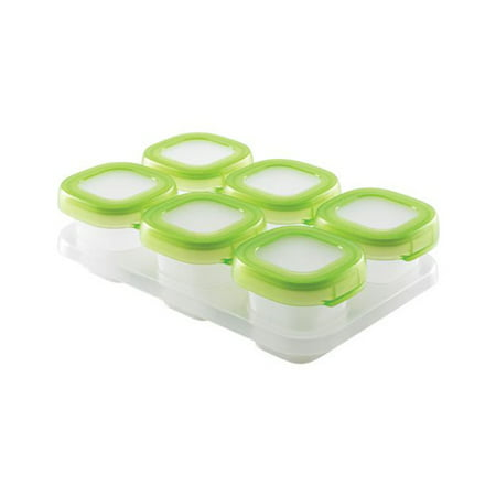 OXO Tot Baby Blocks Freezer Storage Containers - 2 Ounce - Green
