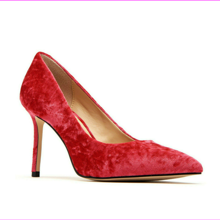 Katy Perry The Sissy Crushed Velvet Spanish Red Pump, Size 5 M