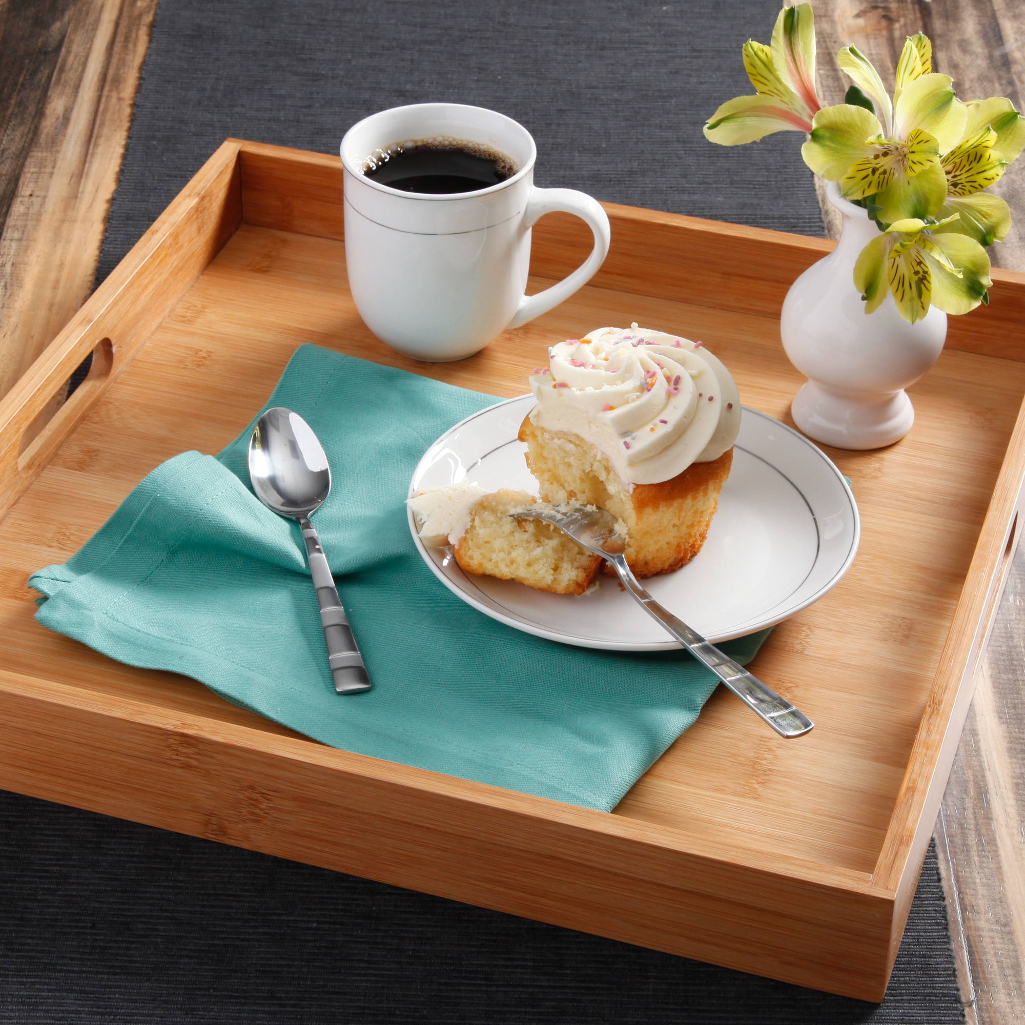 Better Homes and Gardens Laminated Bamboo Serving Tray, Natural Bamboo