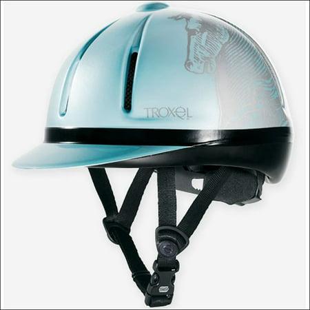 LRG TROXEL LEGACY SLIM PROFILE ALL PURPOSE EQUESTRIAN RIDING HELMET SKY ANTIQUUS Troxel Equestrian Spirit Helmet