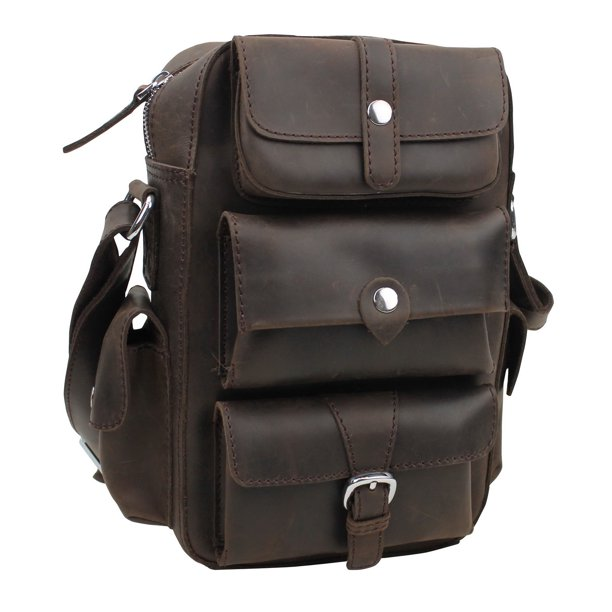 Vagarant Traveler Insect Style Cowhide Leather Messenger Bag LM12.DB