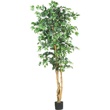Nearly Natural 6 Ft Artificial Ficus Silk Tree Green Walmartcom