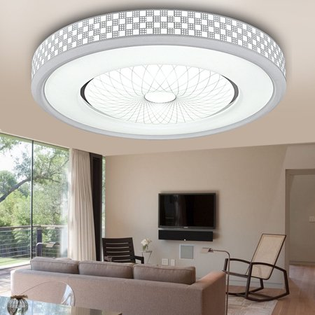 12W 1200LM LED Ceiling Light,Round Flush Mount Fixture Lamp,Home Study Kitchen Bedroom Living Room Lighting (Forecast Flush)