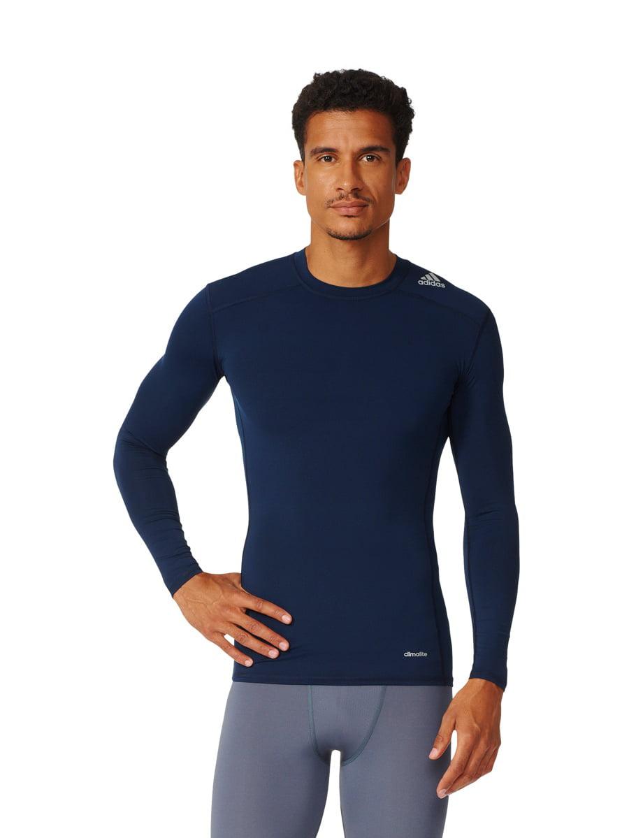 Adidas Men/'s Techfit Base Layer Long Sleeve Tee Color Options