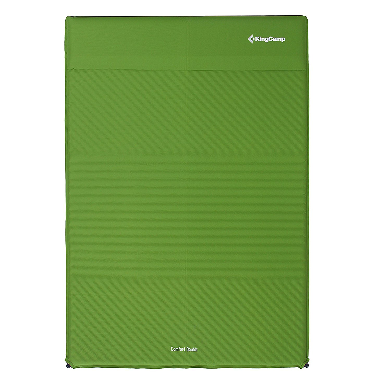 KingCamp 2-Person Camping Pad with Pillows Self-Inflating damp-proof Durable 100% Polyester 75D Micro Brushed PVC-Free,Lightweight for Outdoor Acctivies, Carry Bag Included