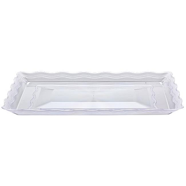Party Dimensions Clear Rectangular Trays Platter - 25 Per Case