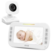 Axvue Baby Monitor E610B with Large LCD Screen and Night Vision, View Angle Adjustment, Power Saving Video On/Off, 2x Zoom In/Out, VOX