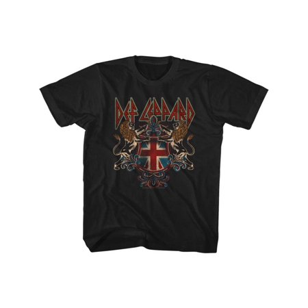 Def Leppard 80s Metal Band Rock N Roll Def Crest Youth Big Boys T-Shirt Tee](80s Boys)