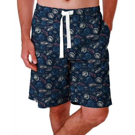 IZOD Mens Sea Shell Print Sleep Shorts