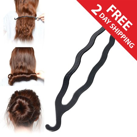 Zodaca Magic Hair Twist Styling Stick Bun Maker Simple Easy Volumising Grip Clip Band Holder [7.87