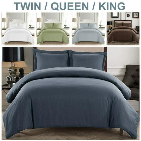 2 3 Pcs Twin Queen King Size Duvet Quilt Cover Pillow Case Cosy