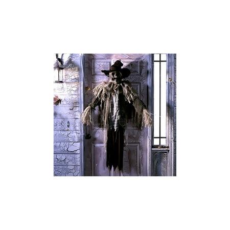 Animated Creepy Scarecrow Halloween Decoration and Prop, 55