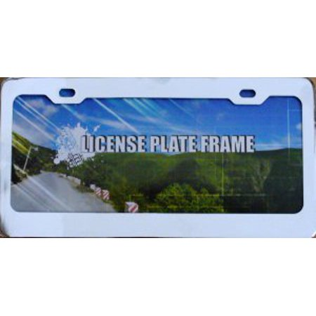 Blank Smooth Heavy Chrome 2 - Hole License Plate Frame - image 1 de 2