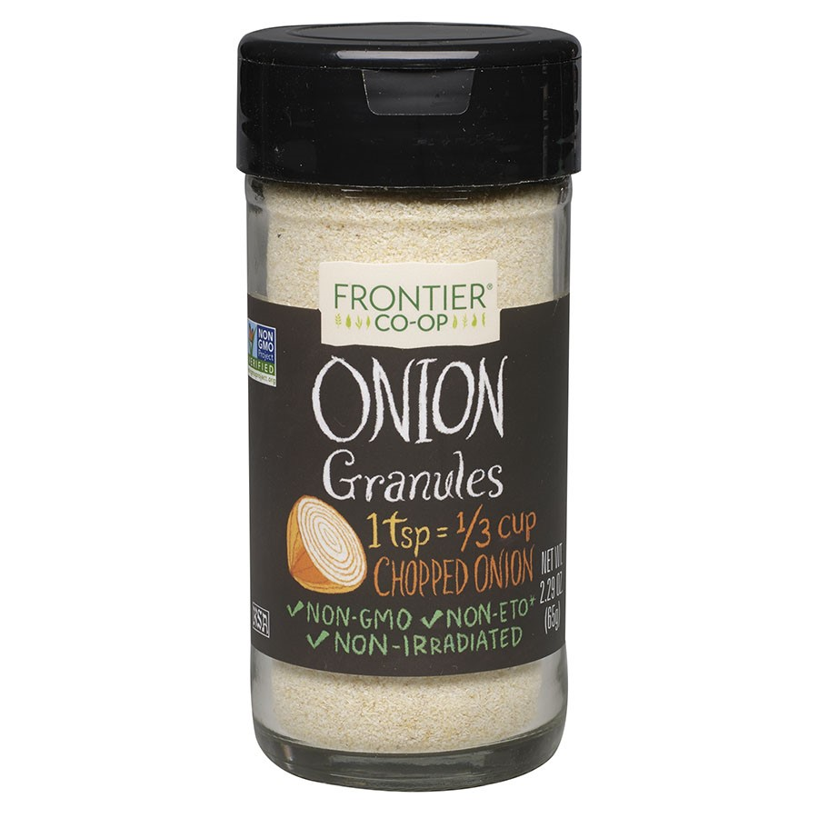 Frontier Natural Products Onion, White Granules, 2.29 Oz