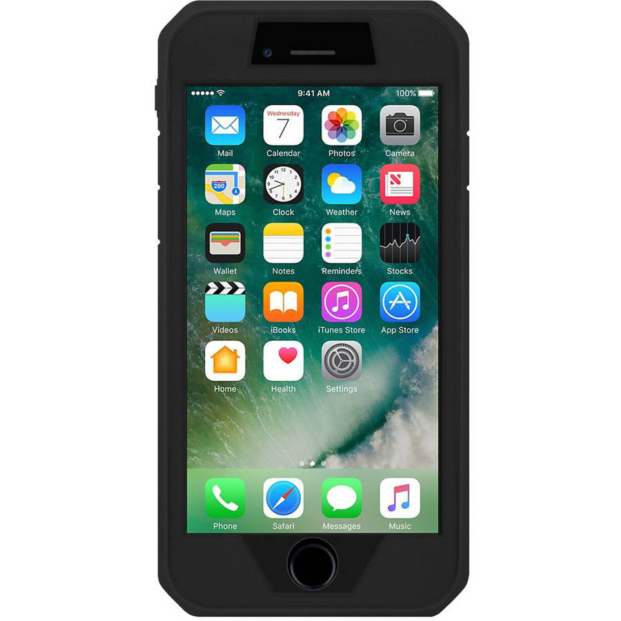Amzer Full Body Hybrid Case for Apple iPhone 7 Plus, Black