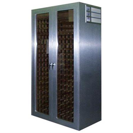 700-Model Brushed Aluminum Wine Cabinet with 2 Glass Doors by Vinotemp