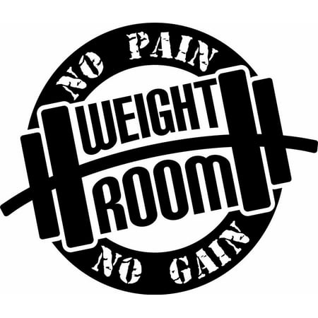 Weight Room No Pain No Gain Motivation Workout Lifting Quote Vinyl