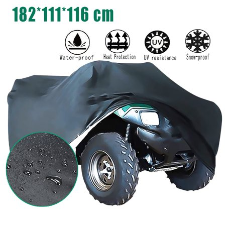 Image of Universal Garden Tractor Deluxe Riding Lawn Mower Cover Waterproof Protector Black