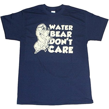 Water Bear Don't Care Funny Tardigrade Science Adult Mens Unisex T-shirt Navy (X-Large)