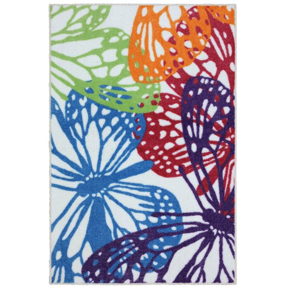Your Zone Overlapping Butterflies Rug 3 10 Quot X 2 6 Quot Multi