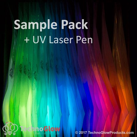 Glow in the Dark Powder Sample Kit, 21 Colors + UV Laser Pointer - Glow In The Dark Colors