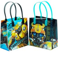 """Transformers Bumblebee 12 PCS Small Reusable Good Quality Party Favor Goodie Gift Bags 6"""" (assorted color)"""