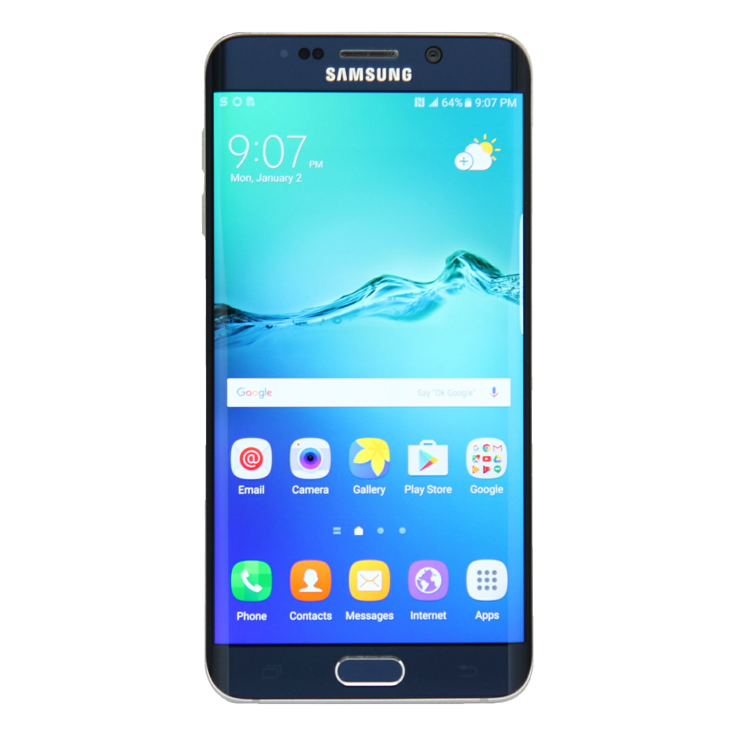 "Samsung Straight Talk Galaxy S6 Edge"" Plus"" ""Gold Platinu..."