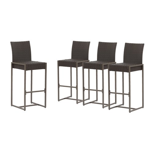 Ivy Bronx Naida 30'' Patio Bar Stool (Set of 4)
