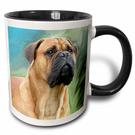 - 3dRose Bullmastiff - Two Tone Black Mug, 11-ounce