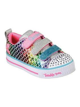Girls' Skechers Twinkle Toes Twinkle Lite Sparkle Scales Sneaker