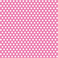 Hot Pink Polka Dot Gift Wrapping Paper Roll, 5ft x 2.5ft, 1ct