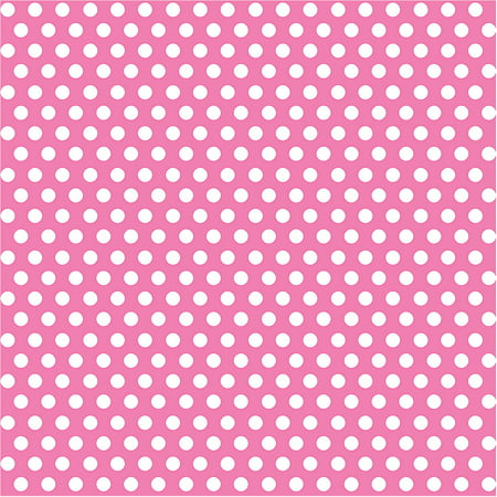 Hot Pink Polka Dot Wrapping Paper