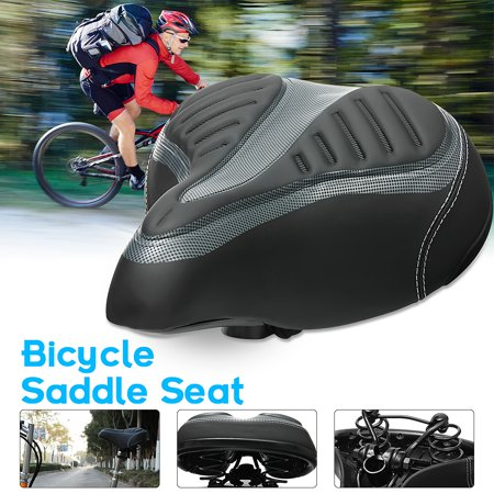 Cycling Bike Seat Wide Big Bum Saddle Seat Mountain Bike Bicycle Comfortable & Soft Cushion Pad