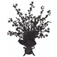 Club Pack of 12 Black Star Gleam 'N Burst Centerpiece Party Decorations 15""