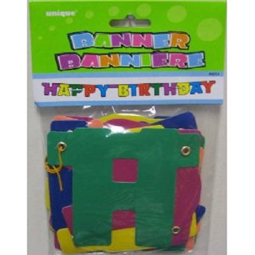 Rainbow Party Birthday Banner