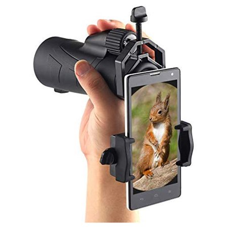 babydream1 Aluminum Alloy Telescope Phone Camera Clamp Clip Monocular Binocular Phone Bracket Holder Mount - image 5 of 9