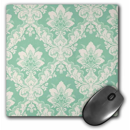 3Drose Picture Of Mint Green Victorian Wallpaper  Mouse Pad  8 By 8 Inches