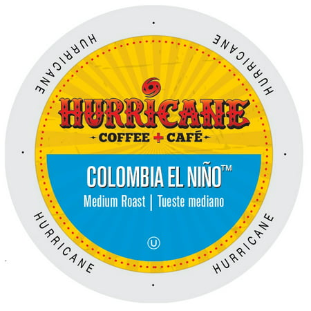 Hurricane Coffee And Tea Colombia El Nio, Rainforest Alliance, Single Serve Cup Portion Pack for Keurig K-Cup Brewers, 96 Count ()