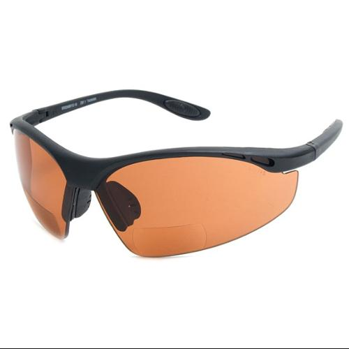 Readers.com The Campbell Bifocal Safety Reader Amber Bifocal Safety Driving Glasses
