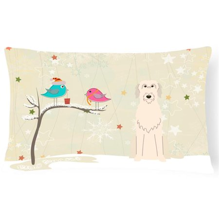 Carolines Treasures BB2537PW1216 Christmas Presents Between Friends Irish Wolfhound Canvas Fabric Decorative Pillow - image 1 of 1