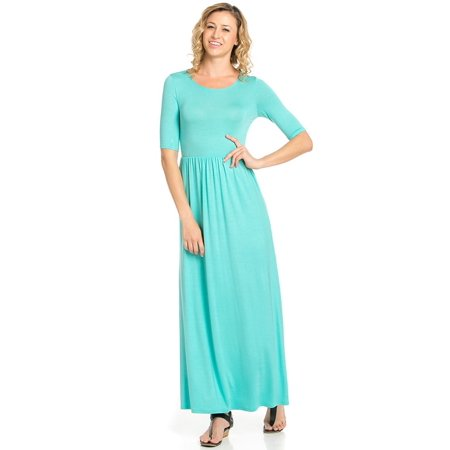 440057eb9e4 TheLovely - Women s Rayon Span Jersey Maxi Long Dress with Elastic  Waistband - Walmart.com