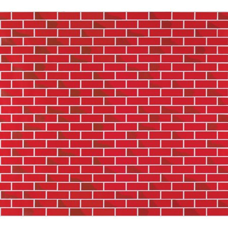 "Fadeless Bulletin Board Art Paper 60""x60' Roll TuTone Brick Enchanting Brick Pattern Paper"