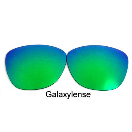 Galaxy Replacement Lenses For-Oakley Frogskin Iridium Green Polarized (Oakley Frogskins Iridium Lens)