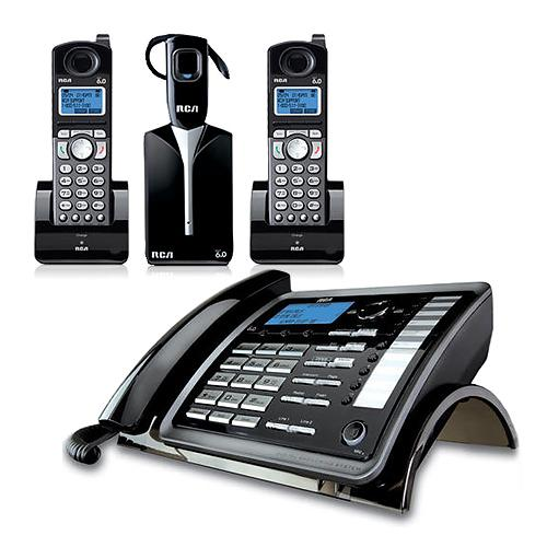 RCA ViSYS 25270RE3 + (1) 25055RE1 RCA 2 Line Corded/Cordless Phone + headset