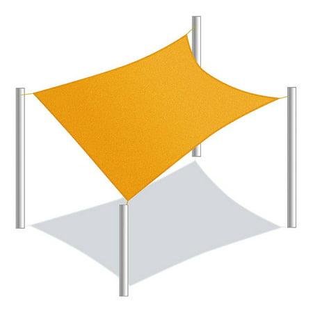 ALEKO Waterproof Sun Shade Sail - Rectangular - 13 x 10 Feet - Yellow