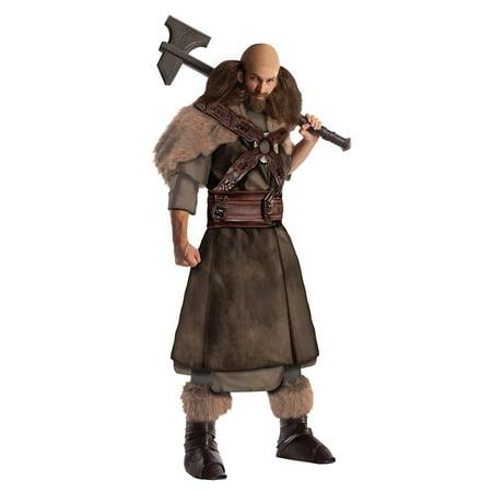 Hobbit Costume Adult (Adult The Hobbit Deluxe Dwalin Costume by Rubies)