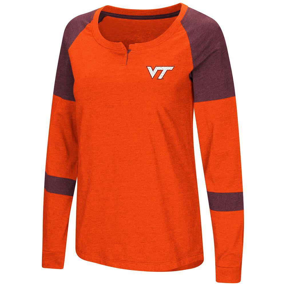 Womens Virginia Tech Hokies Long Sleeve Raglan Tee Shirt M by Colosseum