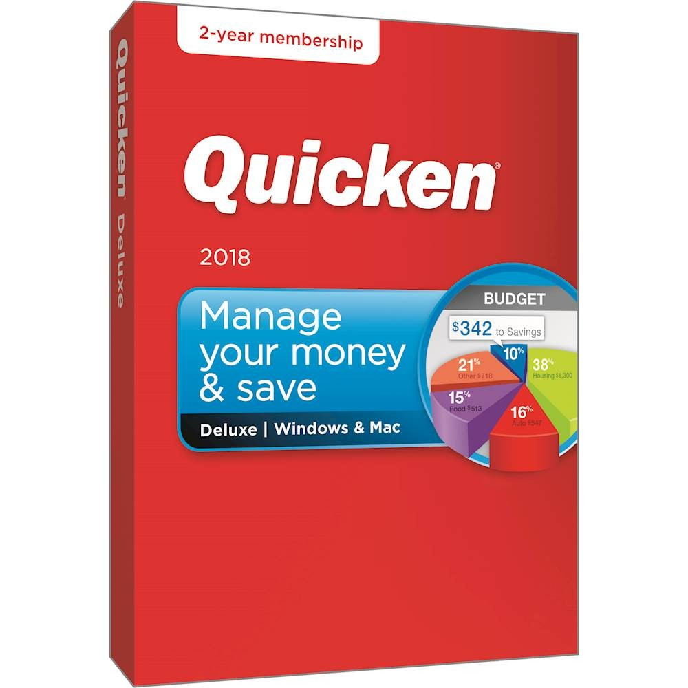 Quicken Deluxe 2018 for Windows and Mac